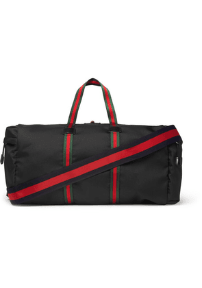 Gucci - Webbing-trimmed Coated-canvas Holdall - Black