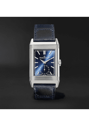 Jaeger-LeCoultre - Reverso Tribute Hand-wound 27mm Stainless Steel And Leather Watch, Ref. No. Q3978480 - Blue