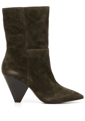 Ash structured-heel ankle boots - Green