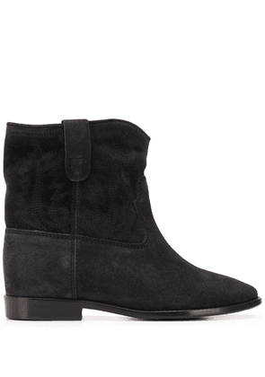 Isabel Marant Crisi embroidered ankle boots - Black