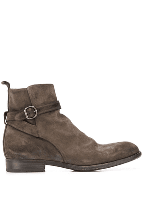 Pantanetti buckle-detail ankle boots - Brown