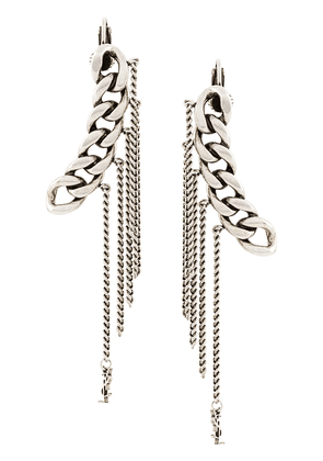 Saint Laurent chain single earring - Metallic
