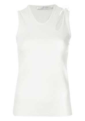 Christopher Esber cutout ribbed tank top - White