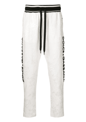 Dolce & Gabbana lace embellished tracksuit trousers - White