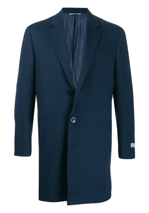 Canali single-breasted midi coat - Blue