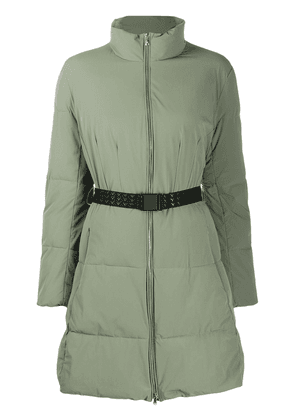 Emporio Armani belted puffer jacket - Green