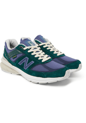New Balance - + Aimé Leon Dore 990v5 Mesh And Suede Sneakers - Green