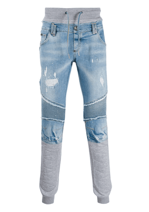 Philipp Plein distressed straight-leg jeans - Blue