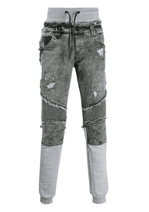 Philipp Plein distressed straight-leg jeans - Grey