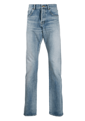 Saint Laurent stonewashed straight-leg jeans - Blue