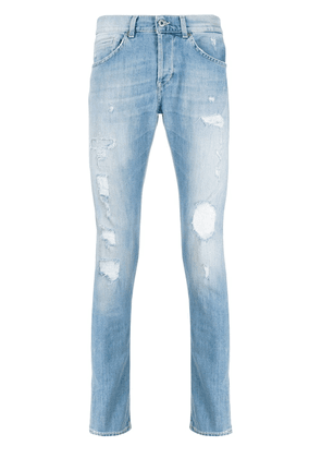 Dondup distressed straight-leg jeans - Blue