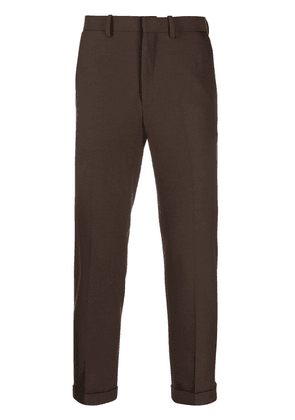 N. Hoolywood pleated slim fit trousers - Brown