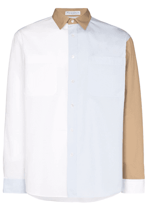 JW Anderson Contrasting blocks button-down shirt - White