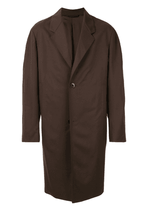 Lemaire oversized single-breasted coat - Brown