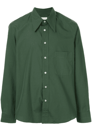 Lemaire contrast stitching relaxed-fit shirt - Green