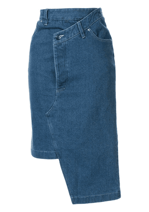 Andrea Crews deconstructed denim midi skirt - Blue
