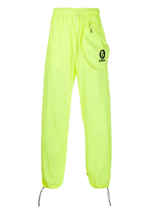 Off-White logo printed track pants - Yellow