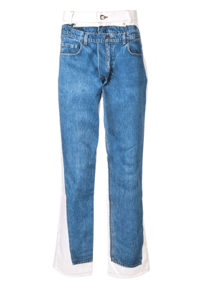 Andrea Crews jeans-print slim-fit jeans - Blue