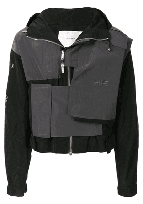 Heliot Emil Technical contrasting panel jacket - Black