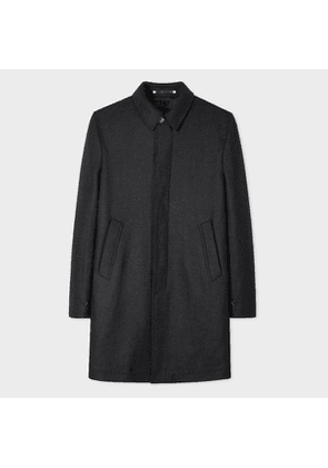 Men's Charcoal Grey Wool-Cashmere Mac