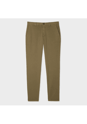 Men's Mid-Fit Washed Khaki Stretch-Cotton Chinos