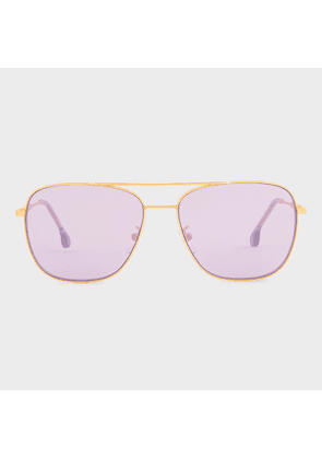 Paul Smith Matte Gold 'Avery V2' Sunglasses