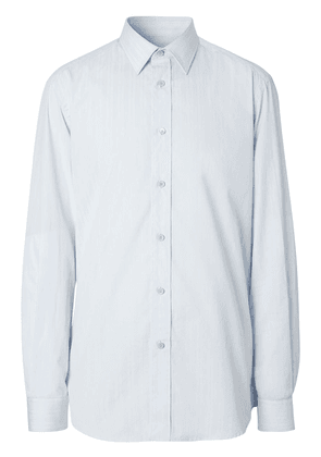 Burberry classic fit striped shirt - White