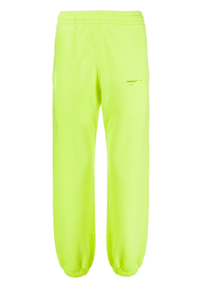 Off-White small printed logo track pants - Yellow
