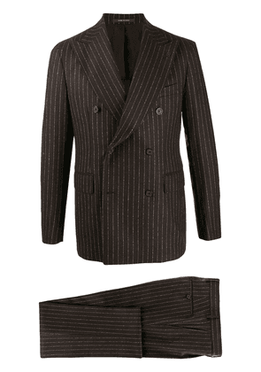 Tagliatore striped two-piece suit - Brown