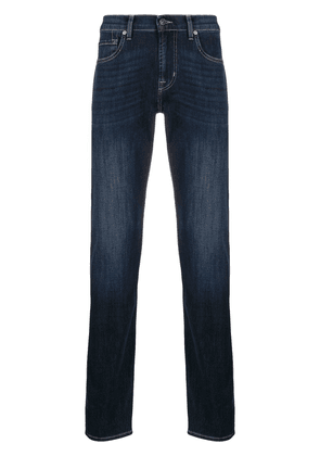 7 For All Mankind faded slim-fit jeans - Blue