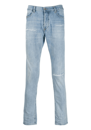 Diesel distressed slim-fit denim jeans - Blue