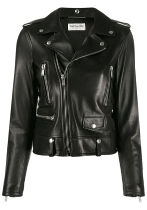 Saint Laurent fitted biker jacket - Black