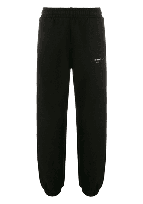 Off-White logo detailed track trousers - Black