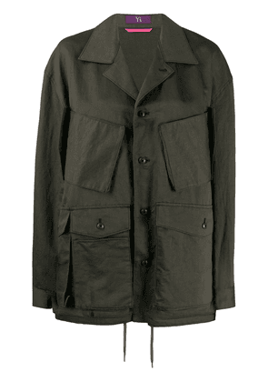 Y's pocket-detail oversize jacket - Green