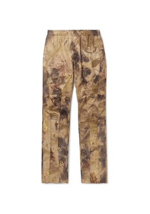 1017 ALYX 9SM - Slim-fit Tapered Camouflage-print Cotton-blend Ripstop Trousers - Beige