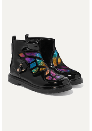 Sophia Webster Kids - Size 21 - 34 Karina Butterfly Glittered Patent-leather Boots