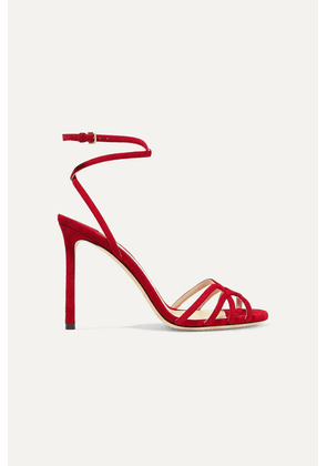 Jimmy Choo - Mimi 100 Suede Sandals - Red