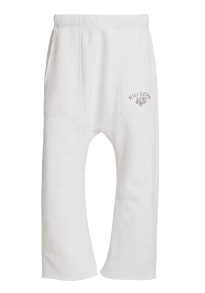 NILI LOTAN Logo-Print Cotton Sweatpants Size: XS