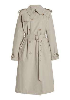 NILI LOTAN Tanner Cotton-Blend Trench Coat Size: XS