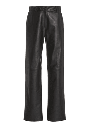 NILI LOTAN Atwater Flared Leather Pants Size: 0