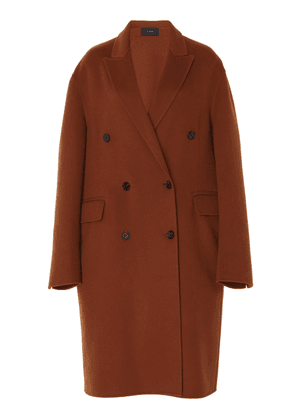 Joseph Carles Double Breasted Wool-Cashmere Coat Size: 36