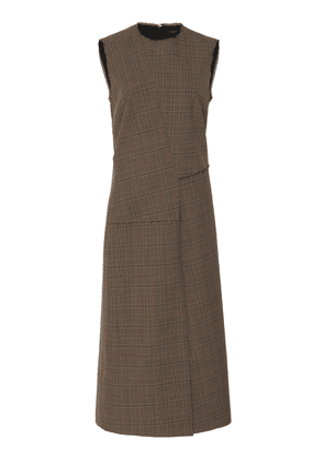 Joseph Darley Front Slit Glen Plaid Dress Size: 34