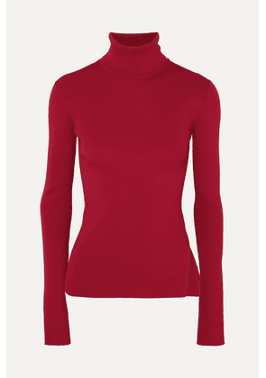 Helmut Lang - Ribbed-knit Turtleneck Sweater - Red