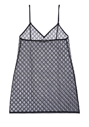Gg Embroidered Sheer Tulle Dress