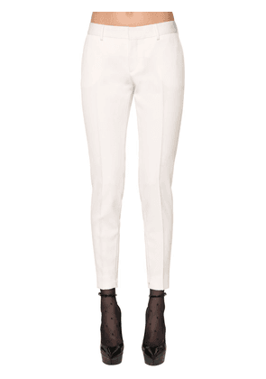 Slim Virgin Wool Grain De Poudre Pants
