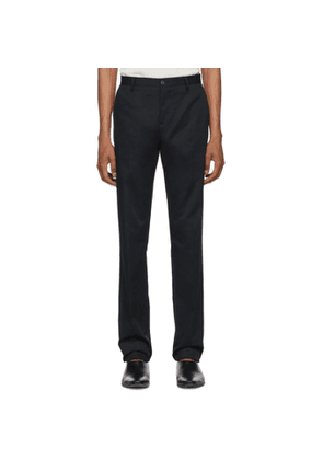 Etro Blue Flat Front Trousers