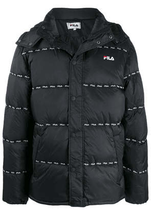 Fila logo-band hooded jacket - Black