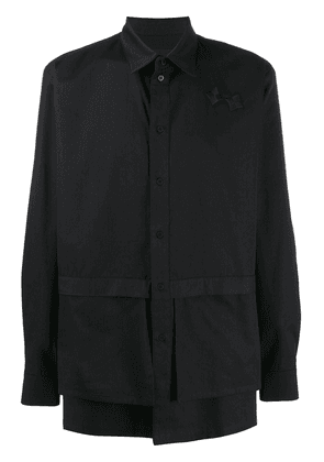 D.Gnak layered panel buttoned shirt - Black
