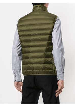 Cerruti 1881 quilted high-neck gilet - Green