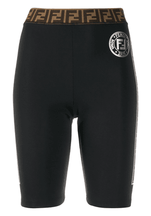 Fendi logo cycling shorts - Black